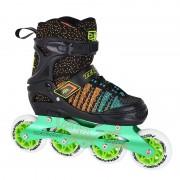 Детские раздвижные роликовые коньки Tempish Vestax (фитнес/беговые) зеленые
