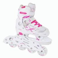 Детские раздвижные роликовые/ледовые коньки Tempish NEO-X LADY DUO 2в1