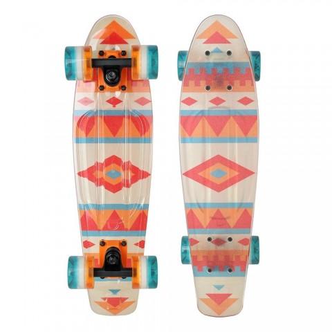 Скейтборд Tempish Buffy 3xFlash aztec (светящиеся колеса)
