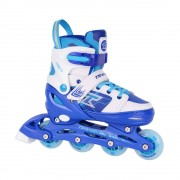Детские раздвижные роликовые коньки Tempish Swist Flash синие (светящиеся колеса)